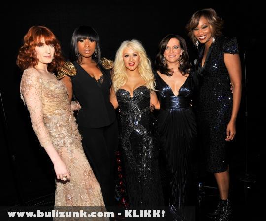 Christina Aguilera, Florence Welch, Jennifer Hudson, Martina McBride és Yolanda Adams a Grammy díjátadón