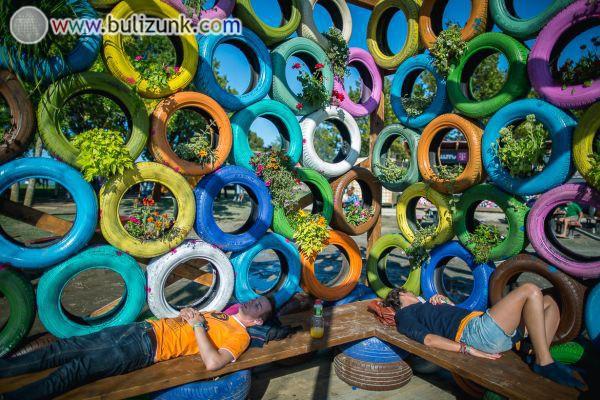 Kreatív pihenőhely a STRAND Fesztiválon 2014-ben