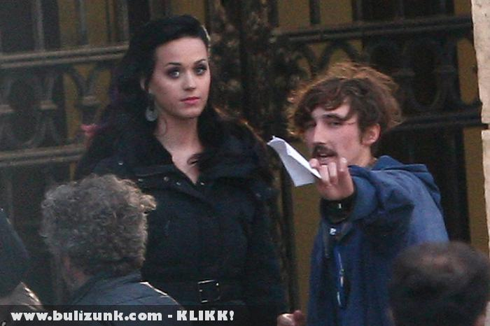 Katy Perry a budapesti forgatáson