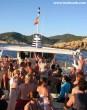 Party hajó Ibizán